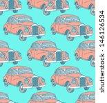 vintage car  vector seamless... | Shutterstock .eps vector #146126534