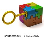 Colorful Puzzle Cube With...