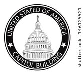 Stock vector washington dc capitol landscape usa grunge rubber stamp sign capitol hill u s capitol dome 146129921