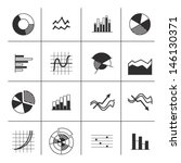 graph icons   black and white | Shutterstock .eps vector #146130371