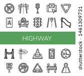 set of highway icons such as no ... | Shutterstock .eps vector #1461309731