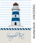 nautical background with... | Shutterstock .eps vector #146131061