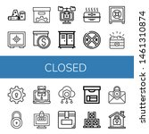 set of closed icons such as... | Shutterstock .eps vector #1461310874