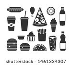 classic fast food solid icons.... | Shutterstock .eps vector #1461334307