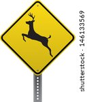 Deer Crossing Traffic Warning...