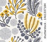 seamless vector floral pattern. ... | Shutterstock .eps vector #1461337184
