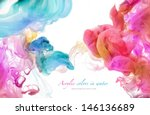 acrylic colors in water.... | Shutterstock . vector #146136689