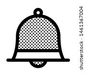 alarm bell icon with dots style.