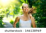 running woman. female runner... | Shutterstock . vector #146138969