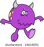 purple monster vector... | Shutterstock .eps vector #14614051