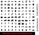 vector large set 100 of modern... | Shutterstock .eps vector #146140511