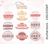 collection of summer sales... | Shutterstock .eps vector #146141069