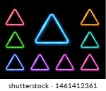 abstract neon triangle set.... | Shutterstock . vector #1461412361