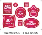 promotional sale labels set | Shutterstock .eps vector #146142305