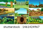 empty background nature scenery ... | Shutterstock .eps vector #1461424967