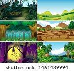 empty  blank landscape nature... | Shutterstock .eps vector #1461439994