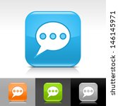speech bubble icon. blue ...
