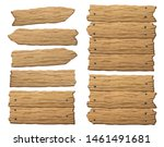 wooden banner  sign posts or...