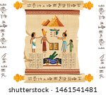 ancient egypt papyrus scroll... | Shutterstock .eps vector #1461541481