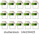 digital file format icons. 15... | Shutterstock . vector #146154425