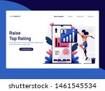 landing page template of raise... | Shutterstock .eps vector #1461545534