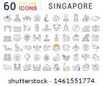 set of line icons of singapore... | Shutterstock . vector #1461551774