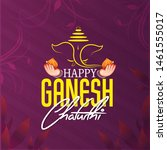 ganesh chaturthi  also known as ... | Shutterstock .eps vector #1461555017
