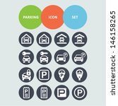 parking icon set | Shutterstock .eps vector #146158265