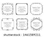 vintage vector set. floral... | Shutterstock .eps vector #1461589211