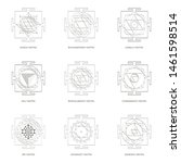 vector icon with yantra...   Shutterstock .eps vector #1461598514