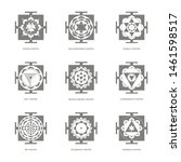 vector icon with yantra...   Shutterstock .eps vector #1461598517