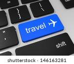 Travel Key And Airplane Symbol...