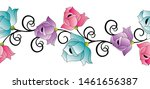 seamless abstract vector rose... | Shutterstock .eps vector #1461656387