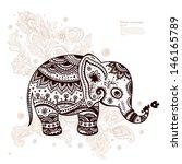 vintage graphic vector indian... | Shutterstock .eps vector #146165789