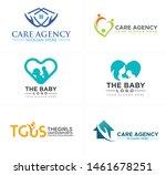 care agency logo design mother...   Shutterstock .eps vector #1461678251