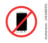 drawn smartphone prohibition... | Shutterstock . vector #1461680351