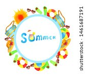 summer frame attributes on...   Shutterstock . vector #1461687191