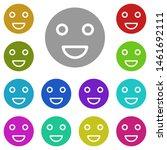 smile multi color icon. simple...