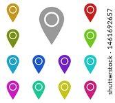 location pin multi color icon....