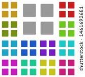 menu multi color icon. simple...