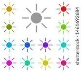 sun multi color icon. simple...