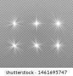 white glowing light explodes on ... | Shutterstock .eps vector #1461695747