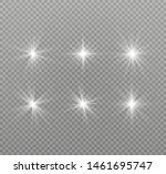 white glowing light explodes on ... | Shutterstock .eps vector #1461695747