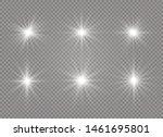 white glowing light explodes on ... | Shutterstock .eps vector #1461695801
