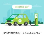 electric car charging on city... | Shutterstock .eps vector #1461696767