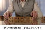 Old Man Making Word Dementia Of ...