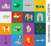 Country India Cartoon Icons In...