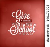 back to school calligraphic... | Shutterstock .eps vector #146171705