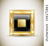 gold square button. quick to... | Shutterstock .eps vector #146171861