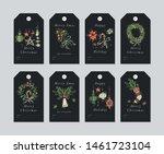 vector linear design christmas... | Shutterstock .eps vector #1461723104